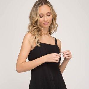 Lauren by Ralph Lauren Black Cocktail Dress